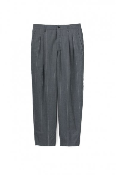 Graphpaper<br>Wide Stripe Wool Two Tuck Slacks