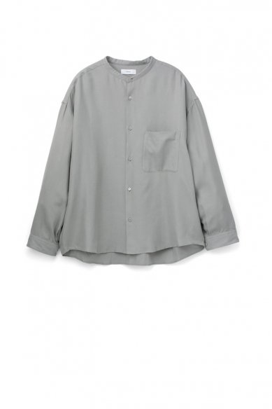 Graphpaper<br>Viscose Band Collar Big Sleeve Shirt