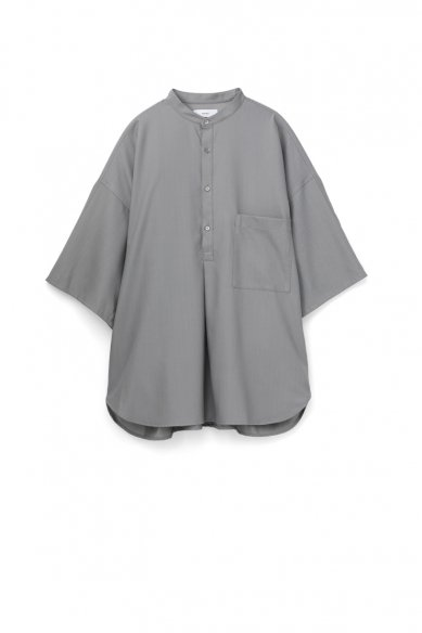 Graphpaper<br>Silk Wool Stand Collar York Short Sleeve Shirt