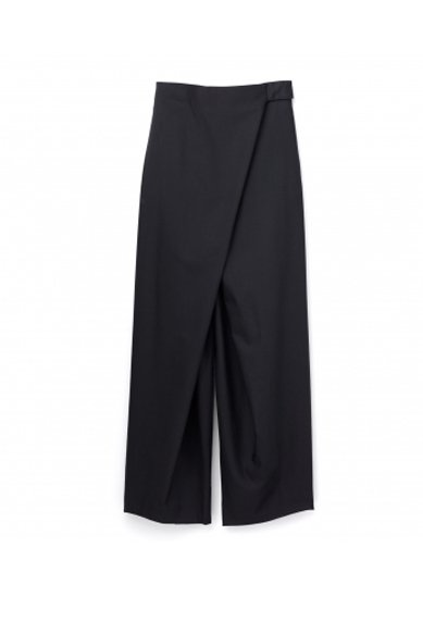 Graphpaper<br>Silk Wool Fold Waisted Pants
