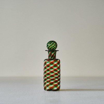 Glass Bottle<br>Stripe Green