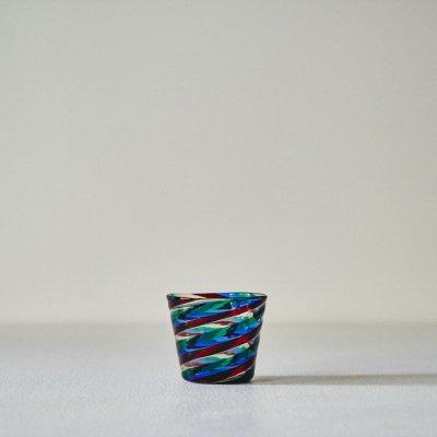 Fulvio Bianconi for VENINI<br>Glass Cup 'Fasce Ritorte' Multicolor Swirl