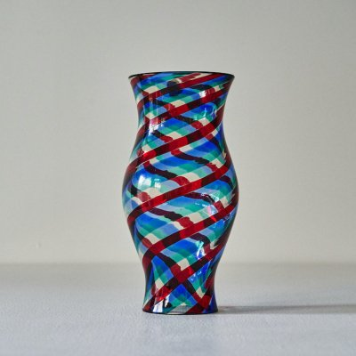 BIANCONI for VENINI<br>Glass Vase Multi Swirl L #2