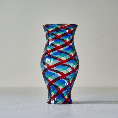 Fulvio Bianconi for VENINI<br>Glass Vase Multi Swirl L #2