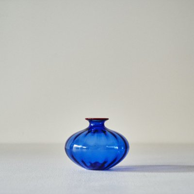 Barovier&Toso for VENINI<br>Glass Vase Blue/Orange 2000
