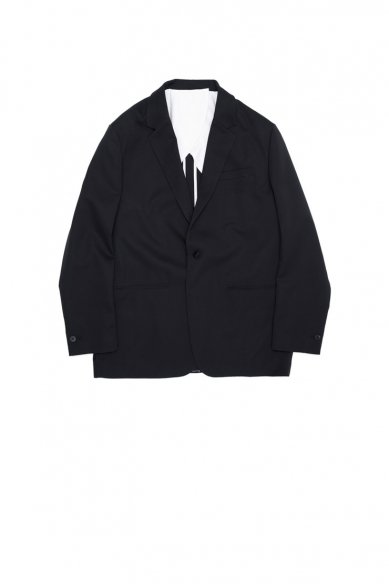 OVERCOAT<br>DROPPED SHOULDER JACKET W/NOTCHED COLLAR IN WOOL GABADINE