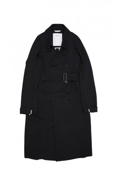 OVERCOAT<br>RAGLAN SLEEVE OVERCOAT W/TWO WAY COLLAR IN WOOL GABADINE