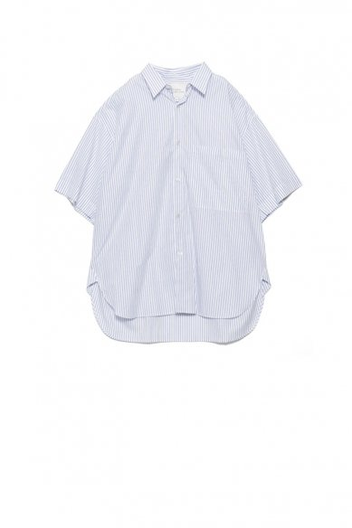 STUDIO NICHOLSON<br>TRIPLE STRIPE OVERSIZED SHORT SLEEVE SHIRT