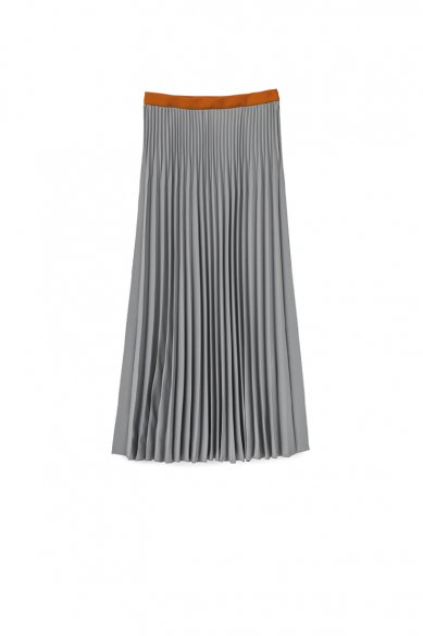 Graphpaper<br>Satin Long Pleats Skirt
