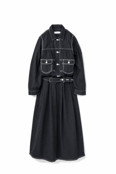 Graphpaper<br>Belted Denim Dress