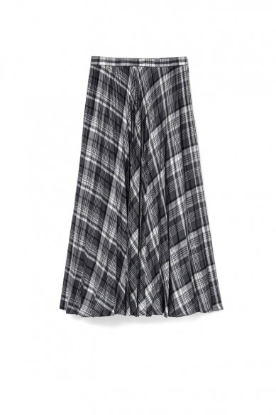 Graphpaper<br>Tencel Check Pleats Skirt