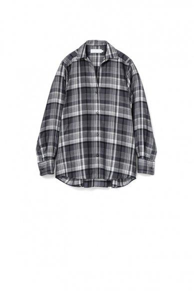 Graphpaper<br>Tencel Check Regular Collar Big Sleeve Shirt