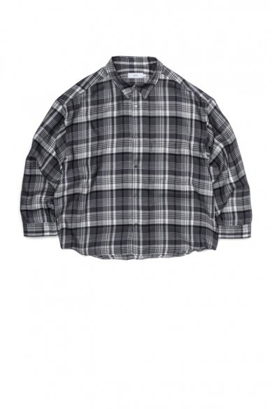 Graphpaper<br>Tencel Check Regular Collar Big Sleeve Shirt
