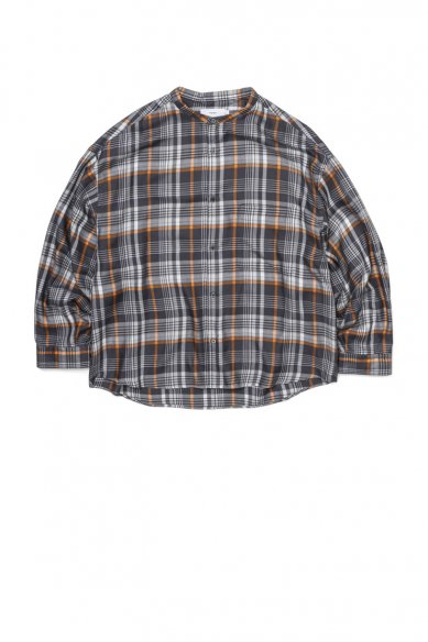 Graphpaper<br>Tencel Check Band Collar Big Sleeve Shirt