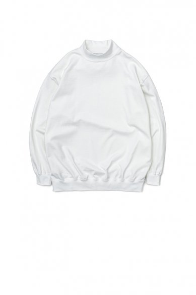 Graphpaper<br>Heavy Weight Mock Neck Hem Rib Tee