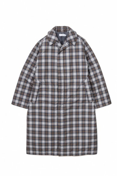 Graphpaper<br>Fine Wool Check Padding Bal Collar Coat
