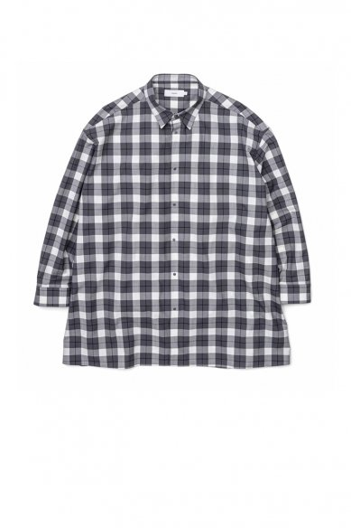 Graphpaper<br>Fine Wool Check Oversized Shirt