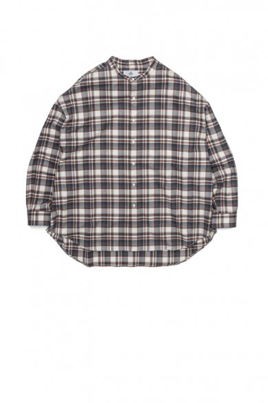 "Graphpaper<br>""THOMAS MASON"" for GP Check Oversised Band Collar Shirt"