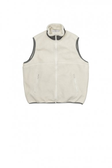 Graphpaper<br>Wool Boa Zip-Up Vest