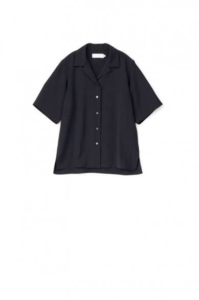 Graphpaper<br>Matte Satin Open Collar Shirt