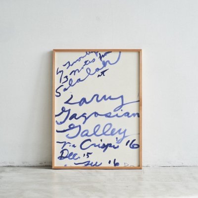 """Cy Twombly <br> """" Salalah """" Gagosian Gallery 2008"""