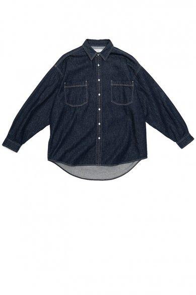 Graphpaper<br>Denim Regular Collar Shirt