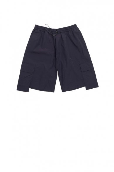 STUDIO NICHOLSON<br>HENTA TECHNICAL NYLON DROPPED POCKET ELASTICATED SHORT