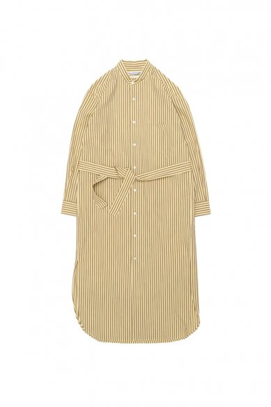 Cristaseya<br>STRIPED COTTON MAXI MAO SHIRT