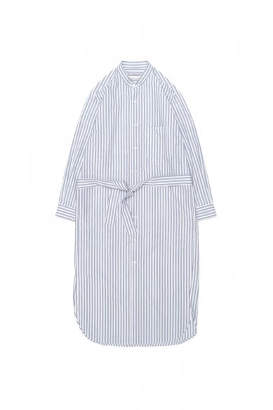 Cristaseya<br>JAPANESE STRIPED COTTON MAXI MAO SHIRT