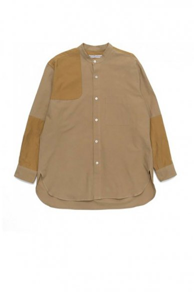 Cristaseya<br>JAPANESE COTTON&LINEN PATCHED MAO SHIRT
