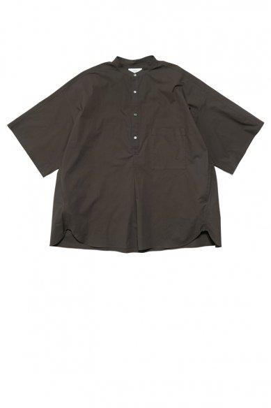 Graphpaper<br>Stretch Typewriter Stand Collar Short Yoke Sleeve Shirt