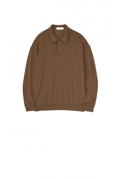 Graphpaper<br>High Gauge Knit Oversized L/S Polo
