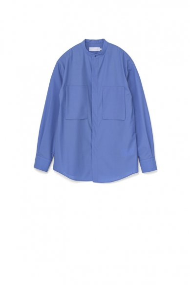 Graphpaper<br>Fine Wool Tropical Band Collar Shirt