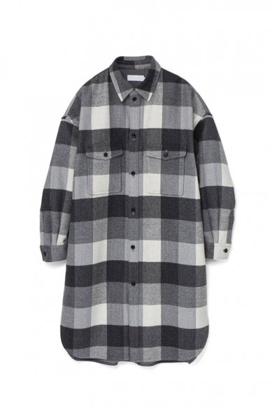Graphpaper<br>Double Faced Wool CPO Shirt Dress