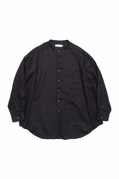 Graphpaper<br>Linen Oversized Band Collar Shirt