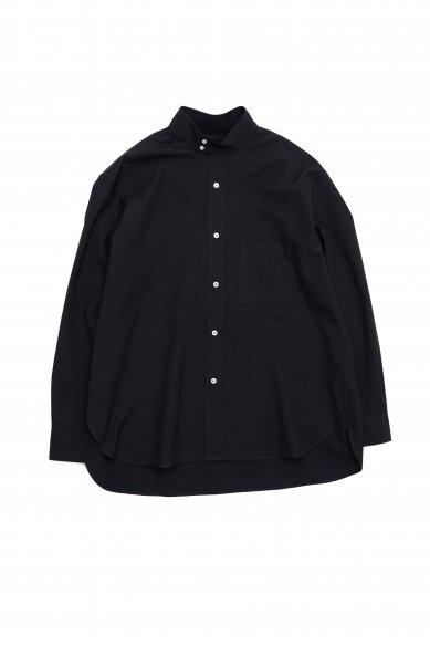 Cristaseya<br>Japanese crepe wool oversized high collar  mao shirt