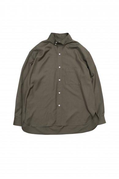 Cristaseya<br>Italian cool wool oversized high collor mao shirt