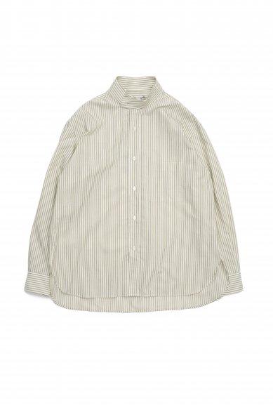 Cristaseya<br>Striped cotton high collar mao shirts