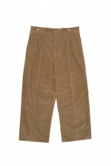 Cristaseya<br>Italian cotton corduroy pleated cropped trousers