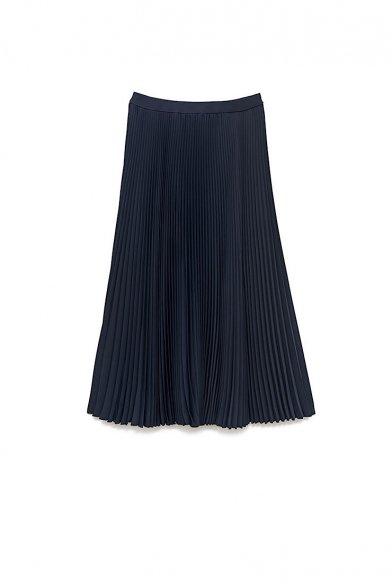 Graphpaper<br>Limited item<br>Satin Pleats Skirt