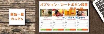 カラーミーカスタマイズ オプション・カートボタン設置(価格表示変動あり)【商品一覧カスタマイズ】