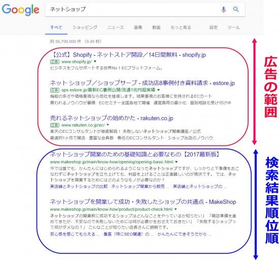 ネットショップ検索結果