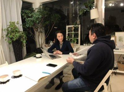 岡田美里さんのアトリエにお邪魔しました。