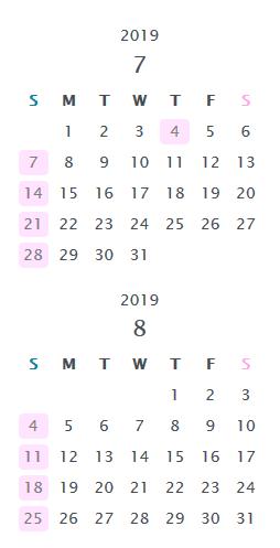 カレンダーの表記を英語に変更【画像3】