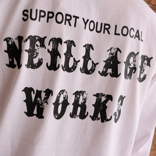 NEILLAGE WORKS ニーレイジ ワークス SUPPORT YOUR LOCAL L/S TEE<WHITE>