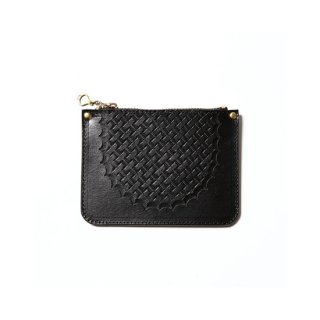 CALEE キャリー Embossing leather mini wallet<Black><img class='new_mark_img2' src='https://img.shop-pro.jp/img/new/icons14.gif' style='border:none;display:inline;margin:0px;padding:0px;width:auto;' />
