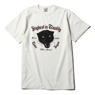 CALEE キャリー Washed panther T-shirt<White><img class='new_mark_img2' src='https://img.shop-pro.jp/img/new/icons14.gif' style='border:none;display:inline;margin:0px;padding:0px;width:auto;' />