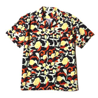 CALEE キャリー Allover pattern S/S Shirt<Black><img class='new_mark_img2' src='https://img.shop-pro.jp/img/new/icons14.gif' style='border:none;display:inline;margin:0px;padding:0px;width:auto;' />