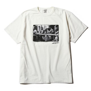 CALEE キャリー Washed photo print T-shirt<White><img class='new_mark_img2' src='https://img.shop-pro.jp/img/new/icons14.gif' style='border:none;display:inline;margin:0px;padding:0px;width:auto;' />