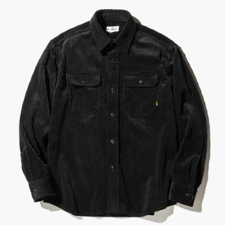 CALEE キャリー L/S Corduroy plane shirt<Black><img class='new_mark_img2' src='https://img.shop-pro.jp/img/new/icons14.gif' style='border:none;display:inline;margin:0px;padding:0px;width:auto;' />